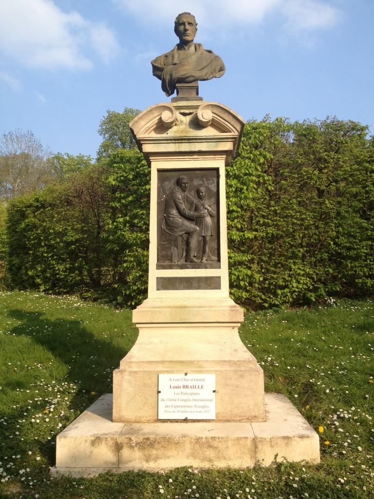 Statue Louis Braille à Coupvray