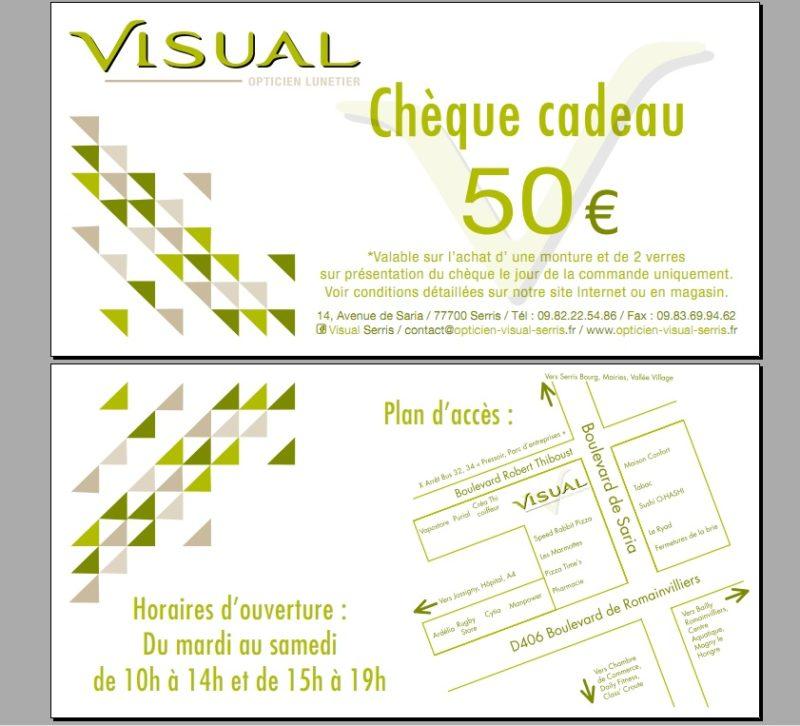 Chèque cadeau Visual Serris